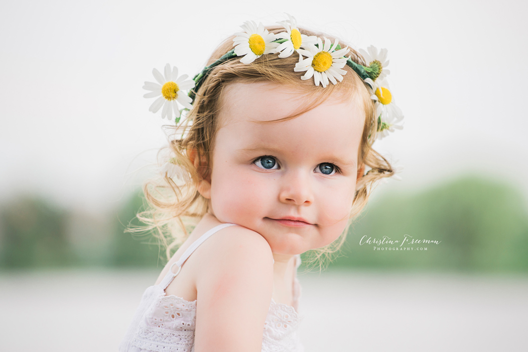 Flowers in her hair   Anna TX Collin County childrens photographer
